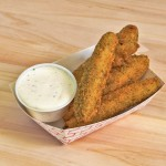 pickles fried served with ranch