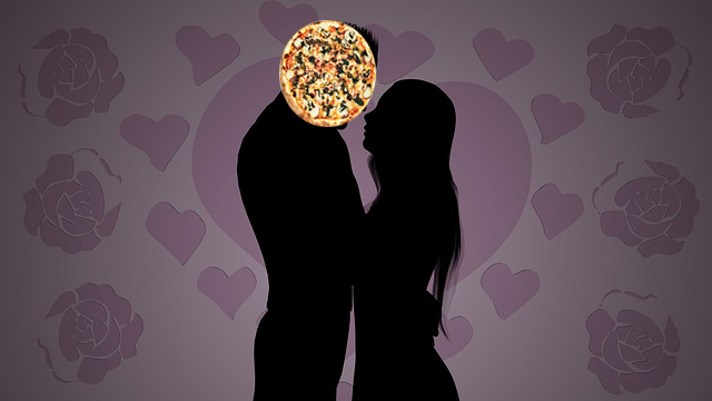 falling in love with pizza